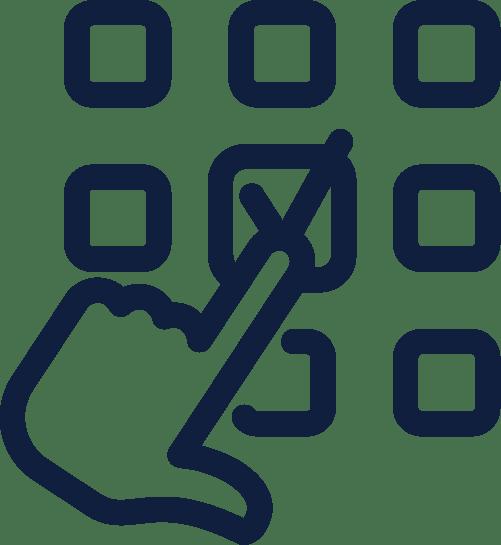 finger der trykker som illustrerer strategi for annoncering